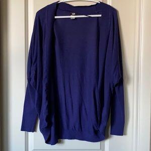 Royal purple long sleeve shrug cardigan